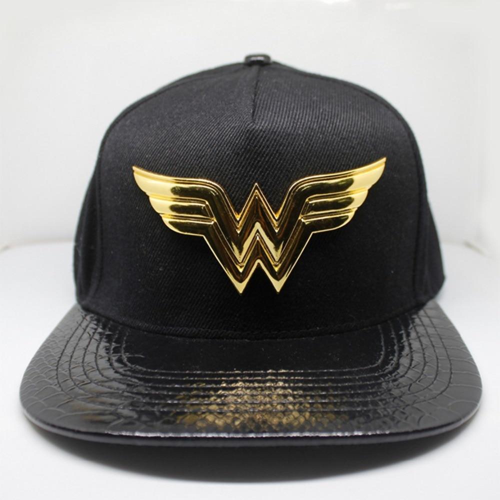 Wonder Woman black cosplay hat Avengers Marvel classic cartoon Adult men casquette baseball Black exquisite embroidery Summer