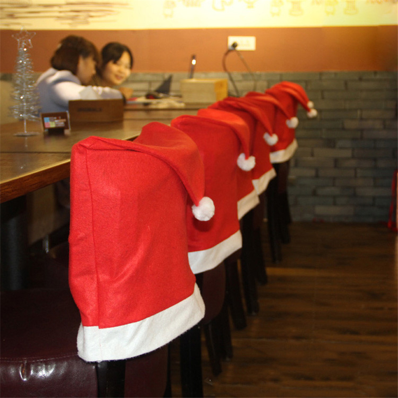 Christmas Children Party Chair Hats Red Funny Hat Party Props Decoration For Kids Boys Girls Toys Birthday Gift