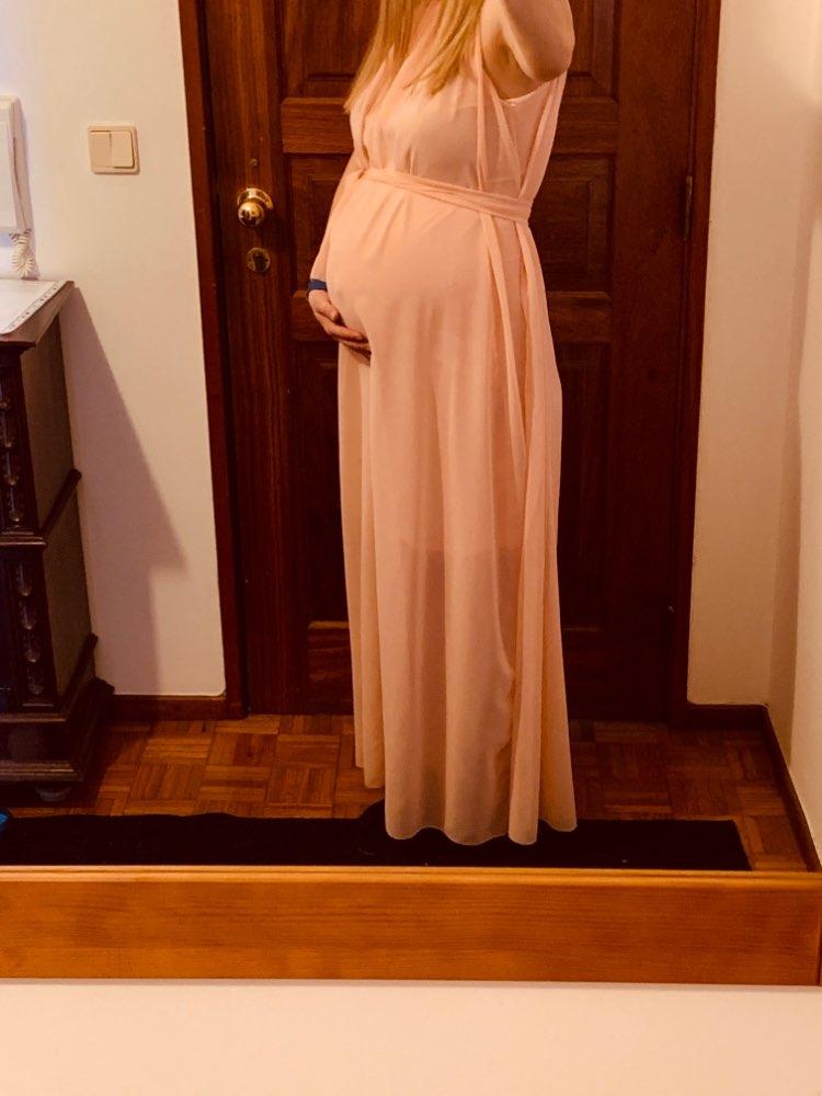 Vestidos Maternidade Boêmio Chiffon