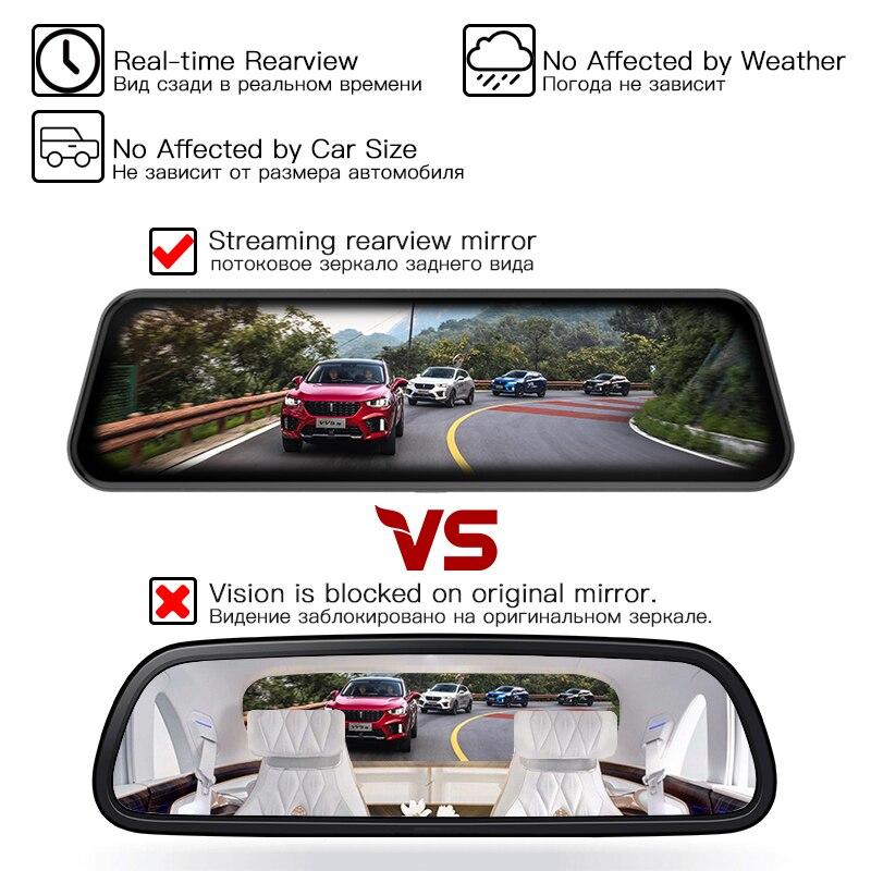 Image 3 - JADO D820s Car Dvr Stream RearView Mirror dash Camera avtoregistrator 10 IPS Touch Screen Full HD 1080P Car Recorder dash cam-in DVR/Dash Camera from Automobiles & Motorcycles