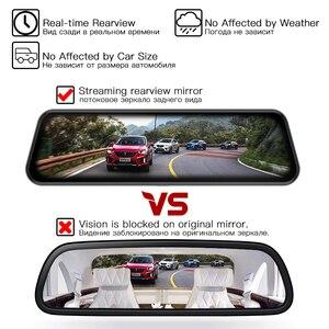 Image 3 - JADO D820s Car Dvr Stream RearView Mirror dash Camera avtoregistrator 10 IPS Touch Screen Full HD 1080P Car Recorder dash cam