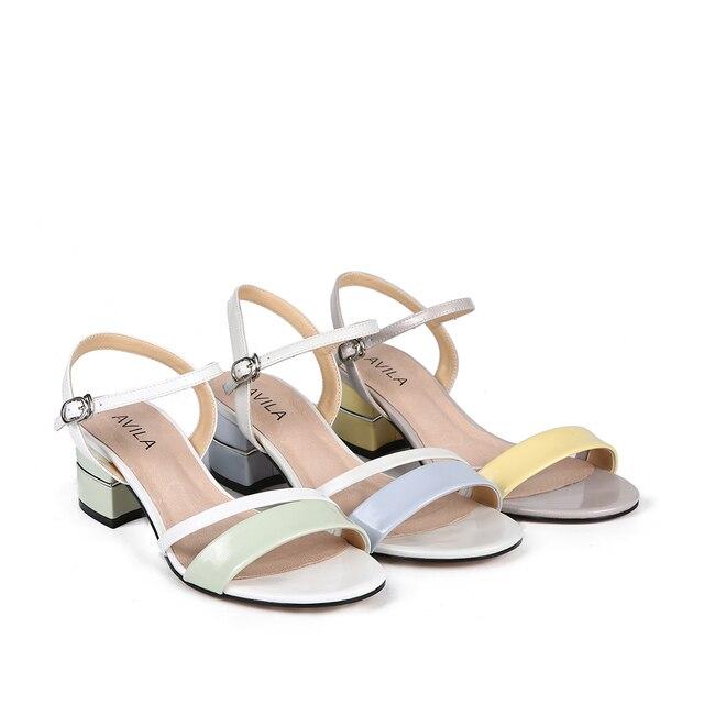 Женские босоножки; женская обувь на каблуке; женские летние RC702_AG020014-13-1; обувь из искусственной лакированной кожи; женские туфли на танкетке