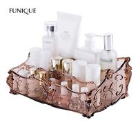 FUNIQUE Makeup Organizer Cosmetics Case Holder Organizer Storage Rack Makeup Display Box Bathroom Storage Boxes Home