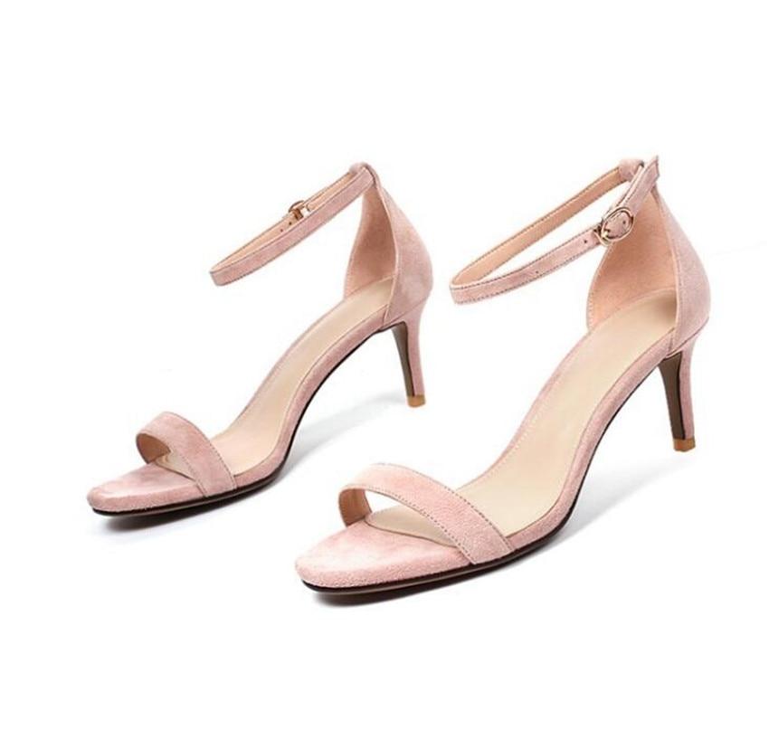 MLRCRIYG 2018 summer new compact Korean version of heel women's shoes