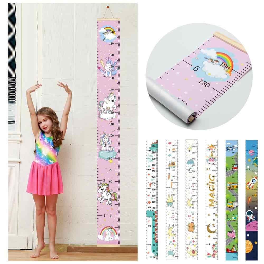 Arco Iris unicornio niños colgantes tabla de crecimiento pared pegatina regla crecimiento tabla regla de medición de altura para niños niñas