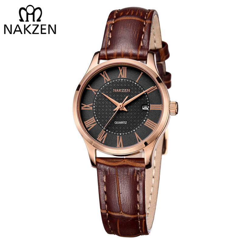 NAKZEN Brand Elegant Women Quartz Watch Ladies Fashion Wristwatch Sapphire Movement Female Dress Watches relogio feminino цена 2017