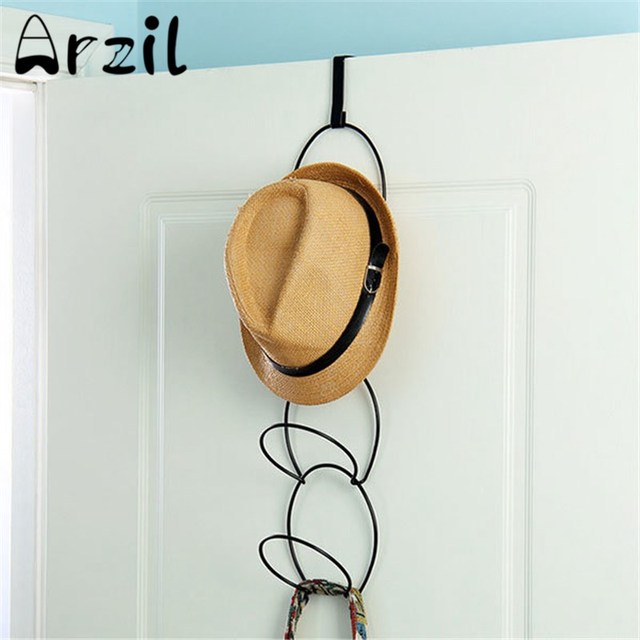 Metal Hat Storage Rack Multifunctional Wire Stackable Wall Mounted Towel  Clothes Hanger Over Bathroom Door Holder