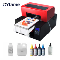 OYfame Automatic A3 Flatbed Printer tshirt DTG Direct to Garment printer for t Shirt Phone Case Card Leather Printing Machine
