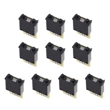 цена на UXCELL 10Pcs DIP Switches BCD Code Thumb wheel Switch KM2 0-9 Digital 30x18x8mm Black Cream White to Assembled and DIY Supplies