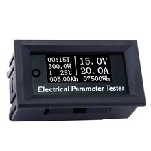 100V/20A 7in1 OLED Multifunction Tester Voltage Current Time Temperature Capacity Voltmeter Ammeter Electrical Parameter Meter