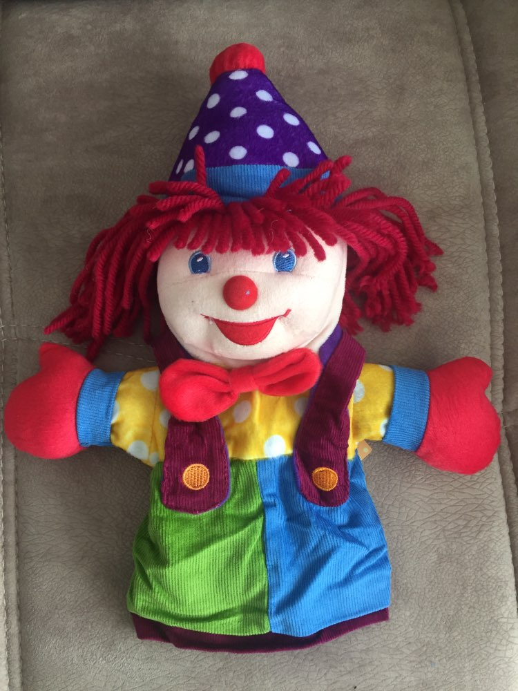 Clown / Joker Storytelling Hand Puppets Plush Doll for Children 37cm photo review