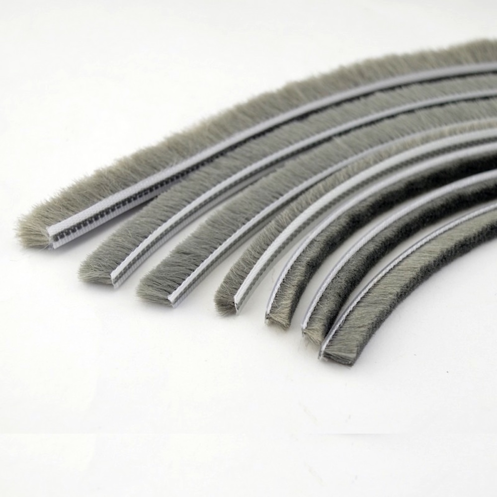 Felt Draught Excluder Wool Pile Seals Weatherstrip Sliding Window Door Brush Seal 6mm Odd Gray