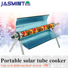 Green solar tube cooker use of sunlight for outdoor BBQ,portable solar cooker Camping Emergency Tool solar oven