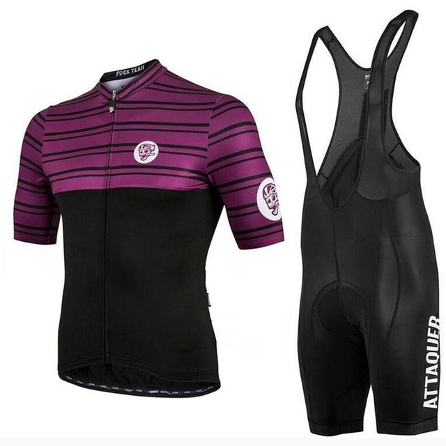 0de3b10a6 Team race kit 2018 Summer Attaquer Jersey Men s short sleeve and bib shorts  9D pad road bike cycling Jersey MTB riding clothing