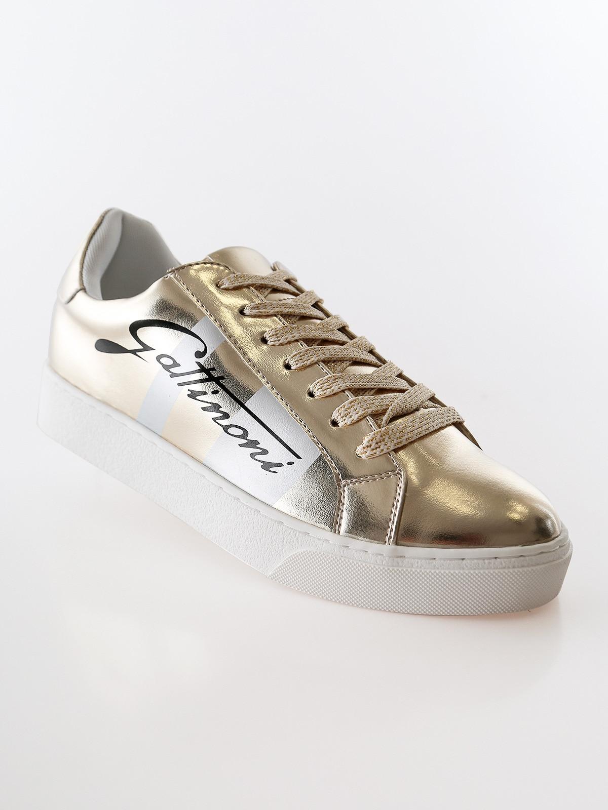 GATTINONI Gold Sneakers Wedge Inner