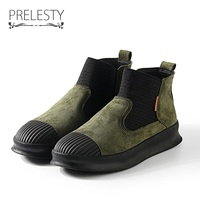 Prelesty Brand High Quality Vintage Men Winter Warm High Top Men S Casual Shoes Breathable Classic