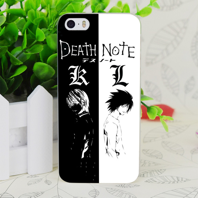 sports shoes f793d c4695 US $1.7 43% OFF|C3408 Death Note Transparent Hard Thin Case Skin Cover For  Apple IPhone 4 4S 4G 5 5G 5S SE 5C 6 6S Plus-in Fitted Cases from ...