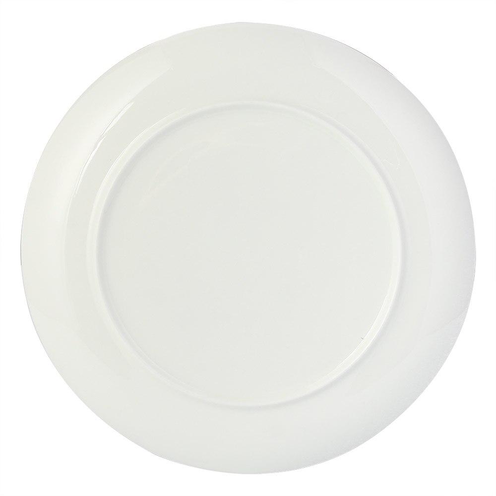 European 4pcs Marble Ceramic Round Gold Inlay Bone china Plate Steak Dessert Porcelain Plates Dishes Home