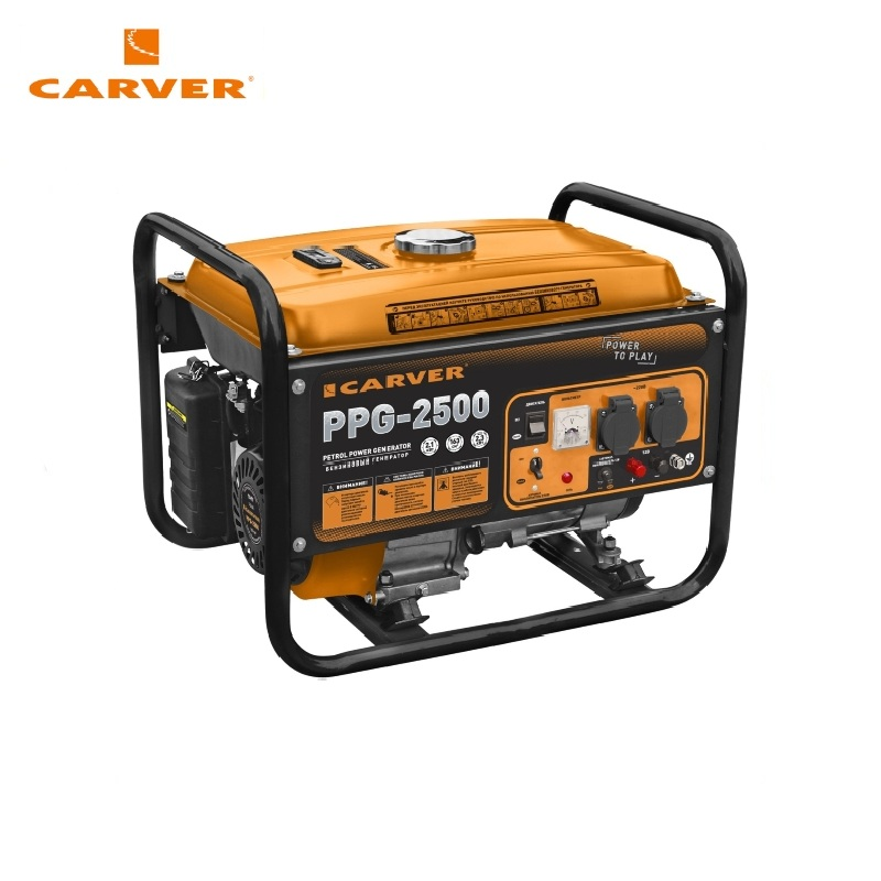 Petrol generator CARVER PPG-2500 Power home appliances Backup source during power outages Benzine power stations цена