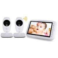 babykam bebek telsiz baby radio nanny camera 7''LCD IR night light vision Baby Intercom Lullaby Temperature Sensor Video ON/OFF