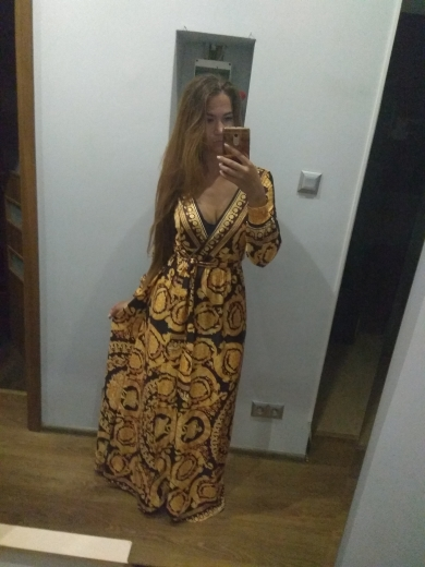 Vintage Split Sexy Boho Dress Women Autumn Elegant Print Maxi Dress Long Sleeve Paisley Party Club Dress Robe photo review