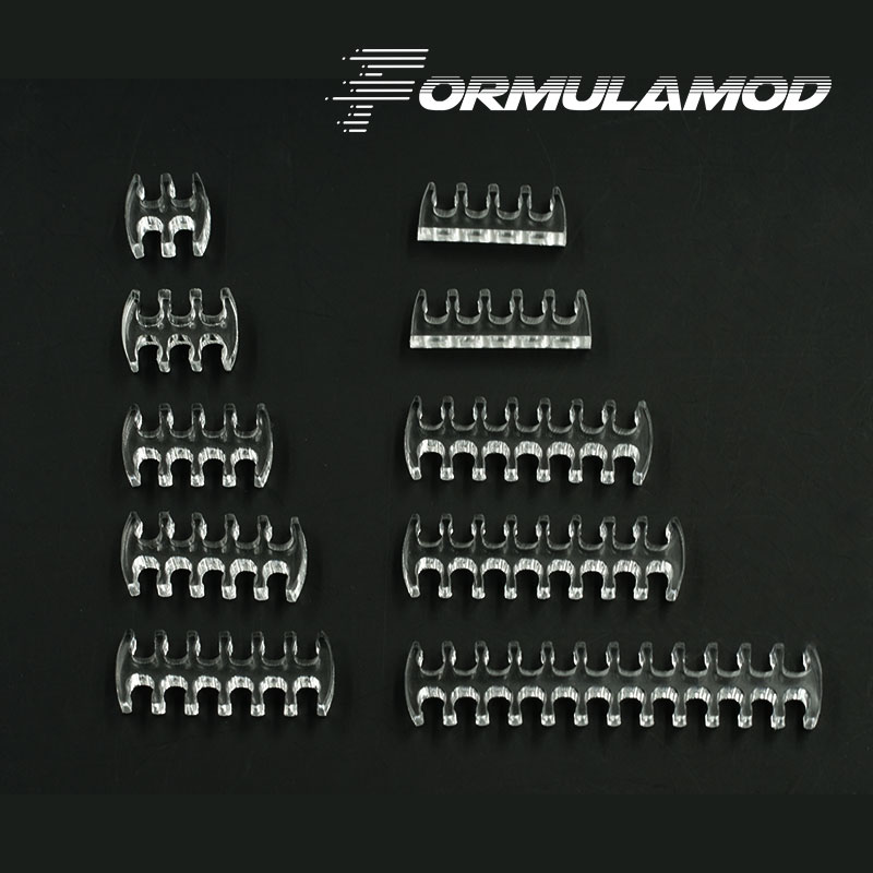 FormulaMod Fm-Cablecombs, Transparent Cable Combs/Clamps, For 24/16/14/12/8/6/5/4Pin Cables, Easy Organize And Fix Cables