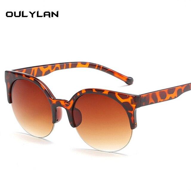 39e420ddd20f1 Oulylan Gato Olho Óculos De Sol Das Mulheres Marca de Luxo Do Vintage  Rodada óculos de
