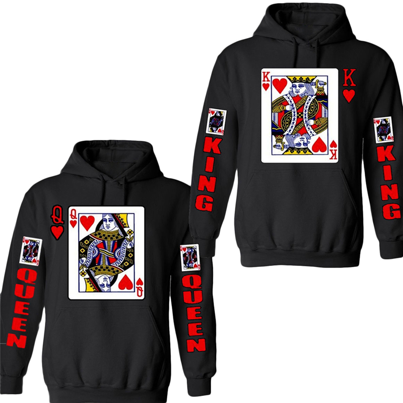 New brand Harajuku style men 3D graphic sweatshirts funny print poker novelty sweatshirts pullover hoodie