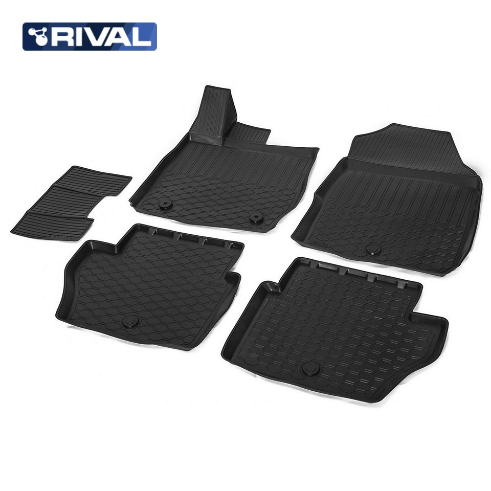 Фото - For Ford Fiesta 2015-2019 3D floor mats into saloon 5 pcs/set Rival 11805001 коврик багажника rival для chevrolet cruze i седан 2009 2015 полиуретан 11003003
