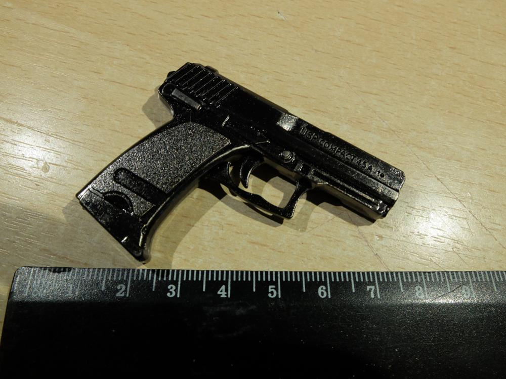 Counter strike pistol HK USP compact gun weapon arms model alloy Men  Keychain Key Chain Ring Bag Charm Llavero Chaveiro