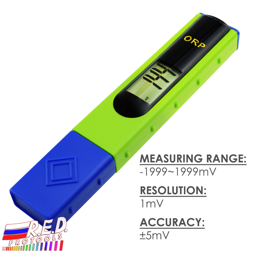 ORP Redox Meter Tester -1999~1999mV, 1-point Calibration, Oxidation Reduction Potential, Aquariums, Swimming Pools, Aquaculture automatic calibration digital waterproof orp meter portable pen tester redox meter lcd backlight display
