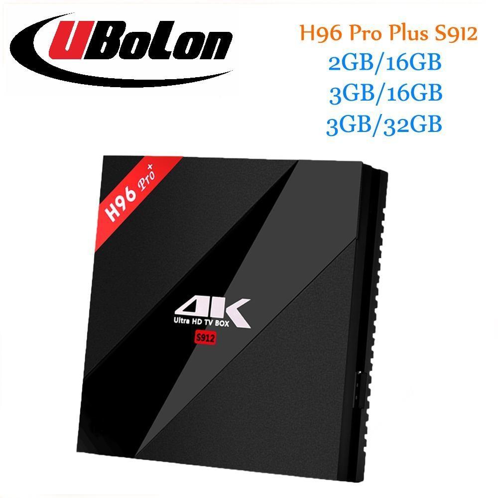 H96 PRO+ Plus Top Set TV Box Android 7.1  Amlogic S912 Octa Core 3G 32G 2.4GHz/5.8GHz Wifi H.265 4K ott tv box PK X96 Smart KODI promoitalia пировиноградный пилинг pro plus пировиноградный пилинг pro plus 50 мл 50 мл 45%