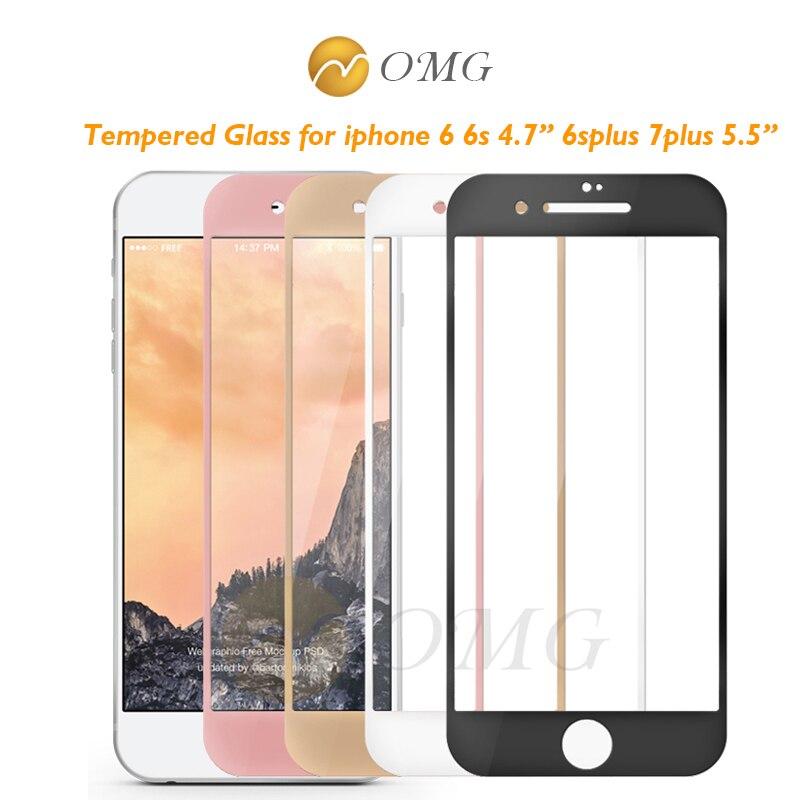 Vidro Temperado protetor de tela do telefone celular para o iphone 7 plus  3D Completo Borda da tampa de vidro de proteção para o iphone 6 6 s 7 Filme  mais 3a3ed30cae