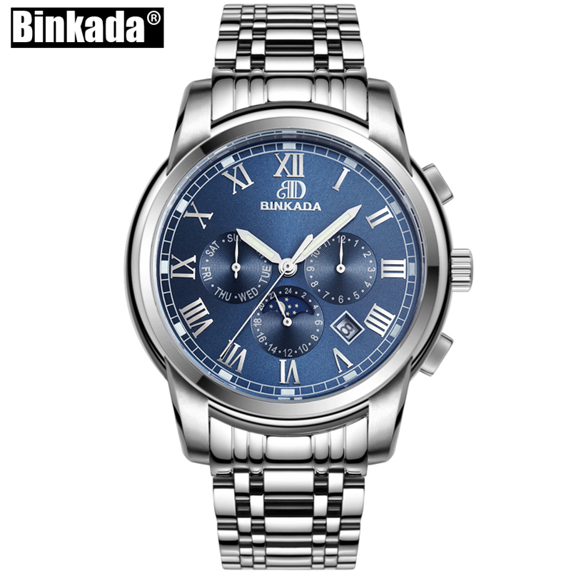 BINKADA Sport Watches Mens Watches Automatic Mechanical Watch Moon Phase Casual Business Wristwatch Top relojes hombre mens watches automatic mechanical watch tourbillon clock business moon phase wristwatch relojes men top brand binkada luxury 201