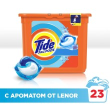 Гель в растворимых капсулах Tide c прикосновением аромата Lenor (23 капсулы)