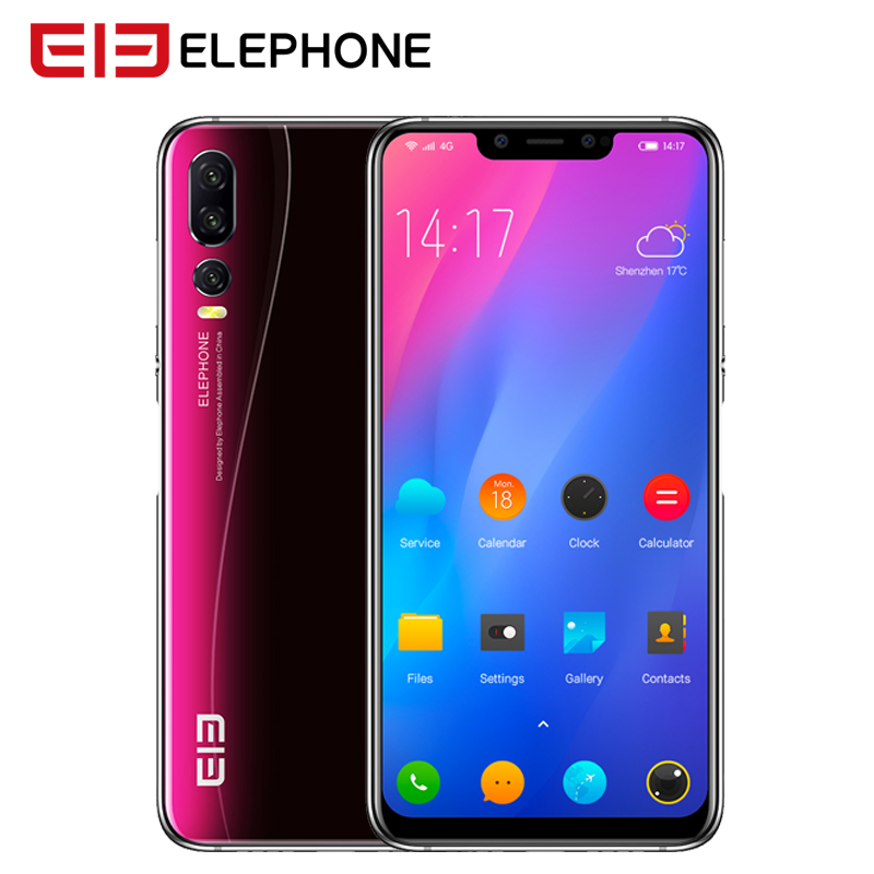 "Elephone A5 4G Smartphone 6.18"" 19:9 Notch Screen Android 8.1 4G 64GB MT6771 Octa Core 20MP Face Unlock Fingerprint Mobile Phone"