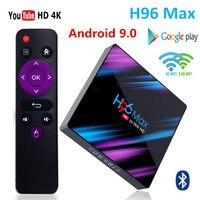 H96 max android hd tv caixa de tv 4 k ultra smart tv caixa android 9.0 4 gb ram rockchip rk3318 google play ip tv definir caixa superior pk tx3 mini