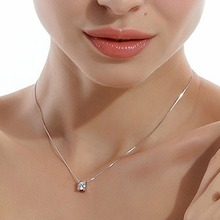 Women Fashion Rhinestone Pendant Necklace Without Chain Silver Plated Jewelry Accessories Drop Shipping