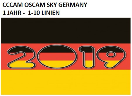SERVER ONE YEAR SUSCRIPTION BEST QUALITY CCCAM OSCAM SKY GERMANY SATELLITE RECEIVERS VU+ HD VERY STABLE NO FREEZING 1 TO 10 LINE