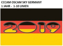 ONE YER SERVER SUSCRIPTION BEST QUALITY CCCAM OSCAM SKY GERMANY SATELLITE  RECEIVERS VU+ HD VERY STABLE NO FREEZING 1 TO 10 LINE