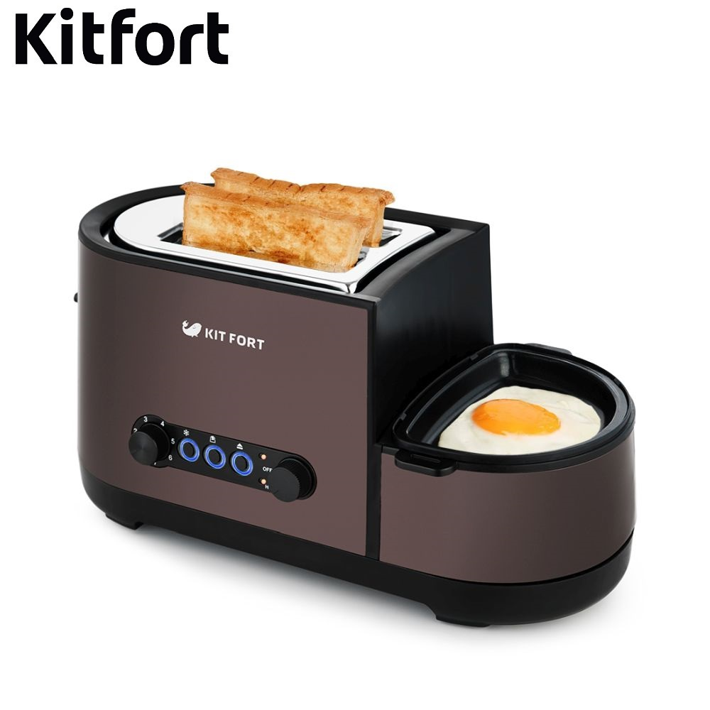 Toaster Kitfort KT-2012 Toasters sandwich home kitchen appliances cooking toaster fry bread to make toasts Bread Maker book of bread recipes to make at home