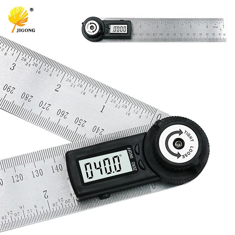 Ausdauernd 2 In 1 Digital Herrscher 360 Grad 200mm Digitalen Winkelmesser Neigungsmesser Goniometer Ebene Messwerkzeug Elektronische SchöN In Farbe