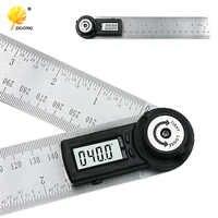 2 IN 1 digital ruler 360 degree 200mm Digital Protractor Inclinometer Goniometer Level Measuring Tool Electronic