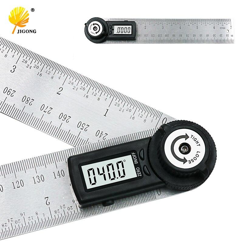 2 en 1 Regla digital 200 grados 360mm Digital Protractor inclinómetro goniómetro nivel herramienta de medición electrónica