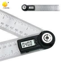 2 IN 1 digitale herrscher 360 grad 200mm Digitale Winkelmesser Neigungs Goniometer Ebene Messung Werkzeug Elektronische
