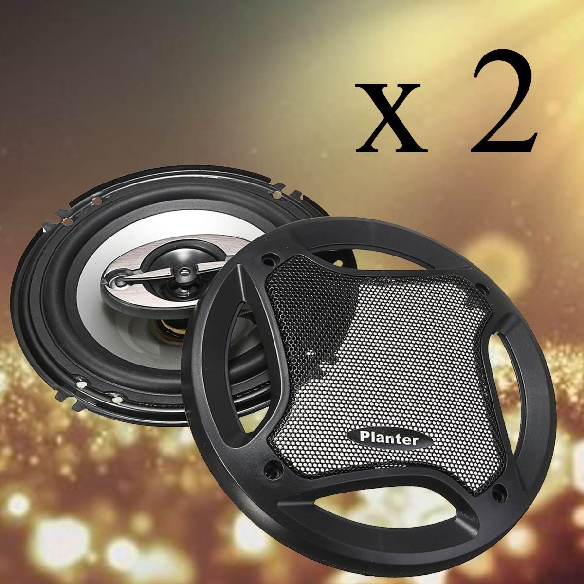 KROAK 2Pcs 6.5'' Car Audio Coaxial Speakers Stereo 90dB 400W Loudspeaker Subwoofer 4 Way