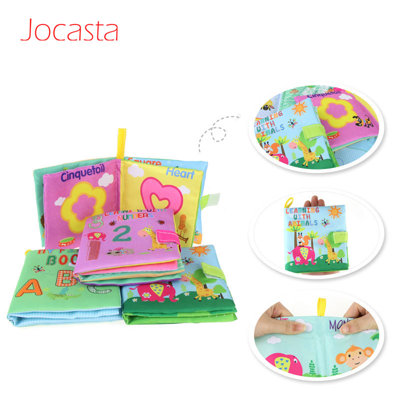 4 Styles Baby Toys Soft Cloth Books Cartoon Rustle Sound Infant Educational Stroller Rattle Toy Newborn Baby Toys 0-36 Months !