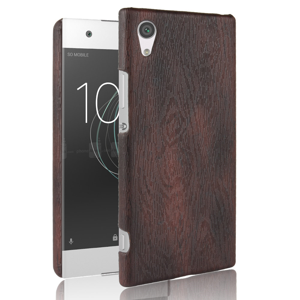 For <font><b>Sony</b></font> Xperia XA1 Plus Case PU Leather Hard Thin Slim Back Cover Case For <font><b>Sony</b></font> XA1 Plus G3412 <font><b>G3416</b></font> G3421 G3423 Wood Phonecase image