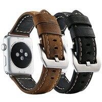 Ashei для Apple Watch группа 38 мм 42 мм кожаный ремешок замена Смарт-часы браслет для iwatch серии 3 2 1 edition