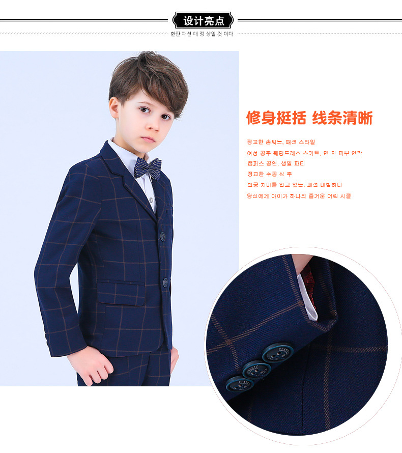 4f575557cd 2018 Children blue formal suits boy blazers set teenagers jacket trendy  winter clothes kids wedding coat outfits party costume